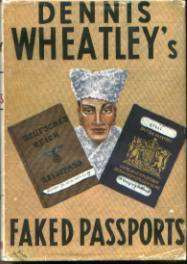 (1st edition wrapper for Faked Passports)