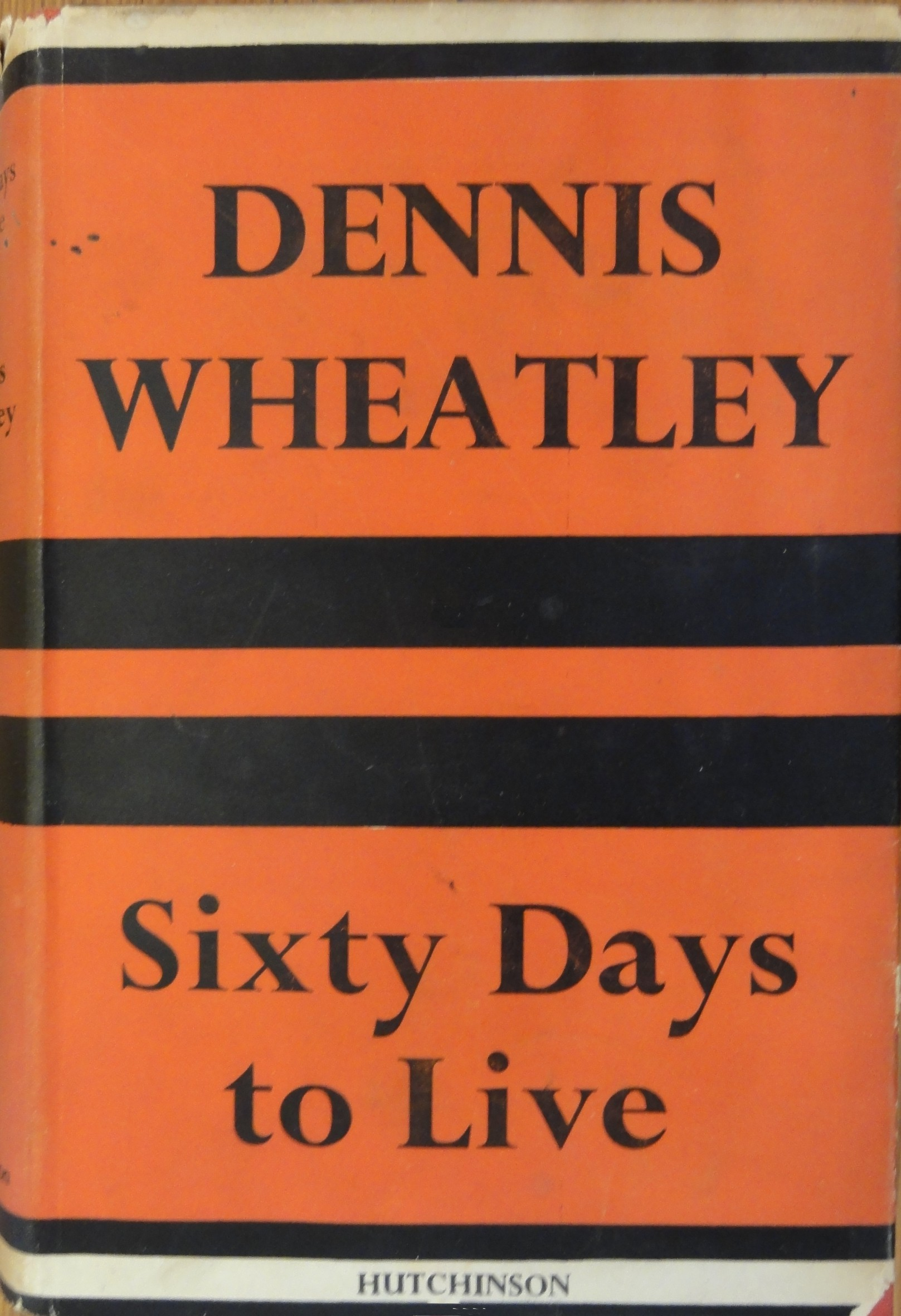 (1950 reprint cover for Sixty Days To Live)