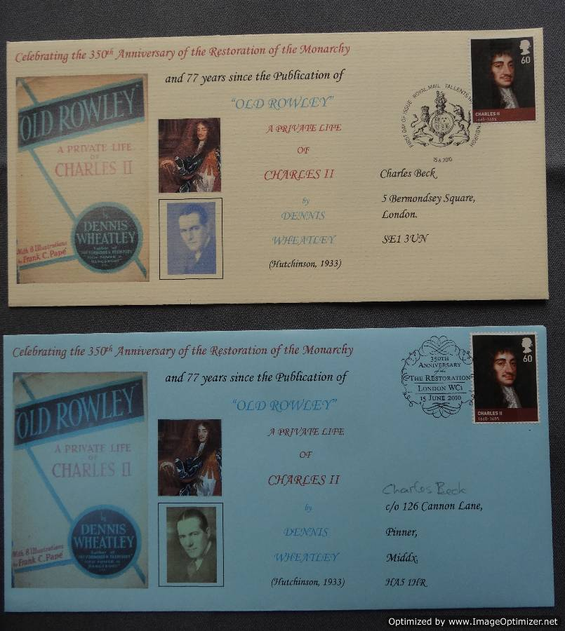 Commemorative covers (courtesy Steve Whatley)