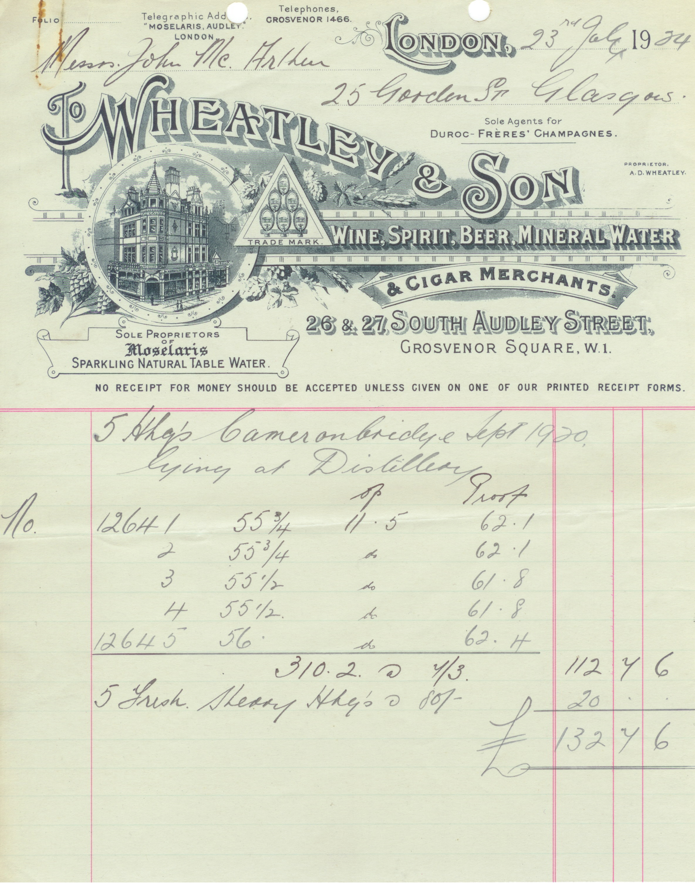Creating An Invoice Template The Dennis Wheatley Museum Quick Invoice Word with Free Invoice Maker Download A Wheatley  Son Invoice From The S Receipts And Payments Account Format Pdf